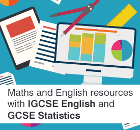 Maths and English resources with IGCSE English and GCSE Statistics